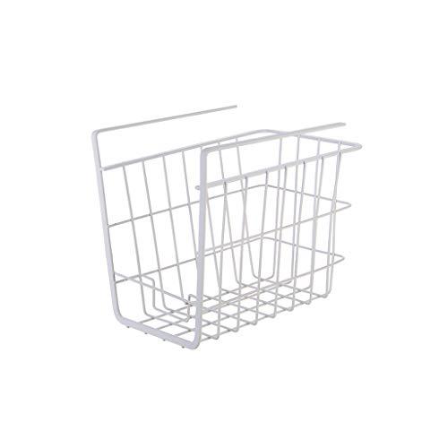 ZH Hängen unter Ablagekorb - mit Telefonhalter , unter Kabinettaufbewahrung Regal Drahtkorb-Organizer für Küchenbadezimmer, Premium Rostfrei Metall , 24,5 × 16 × 20,5 cm (Farbe : Weiß) -