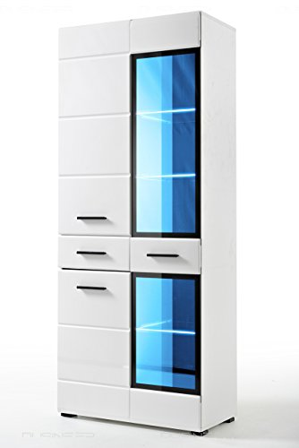 Armoire-Vitrine-Helio-pour-salon-Neuf-laqu-LED-Design