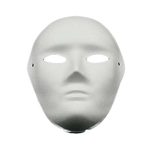 10 Stück weiße Masken-Kostüm-Masken-Anstrich-volle Gesichtsmaske-unbelegte Schablone DIY Papiermaske