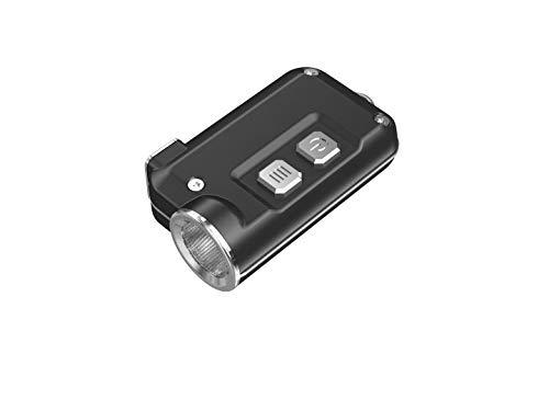Nitecore Linterna Azul luz LED Recargable USB, Llavero