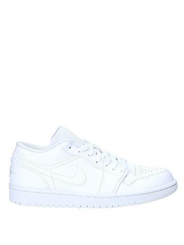 Nike Herren AIR Jordan 1 Low Basketballschuhe, Weiß (White/White/White 112), 45 EU