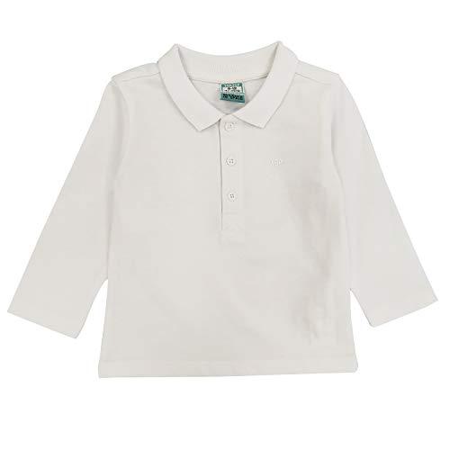 Top Top Baby-Jungen carrake Poloshirt, Weiß (Blanco 1), 86 (Herstellergröße: 18-24)