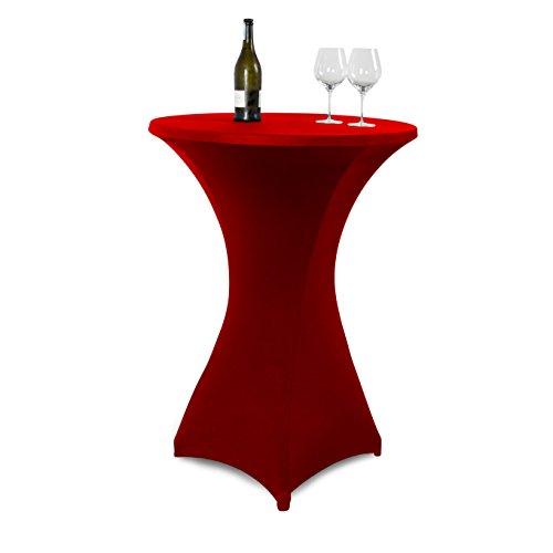Vanage Stretch Husse für Stehtische, rot