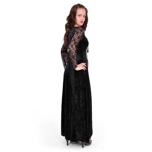 Vampire - Robe Gothique Femme - Noir/Rouge Multicolore