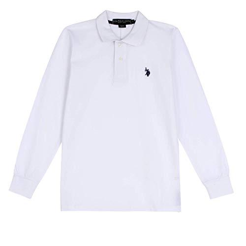 U.S. Polo Assn. Polo Homme - Manches Longues - 100% Coton (L, e658b74f0437