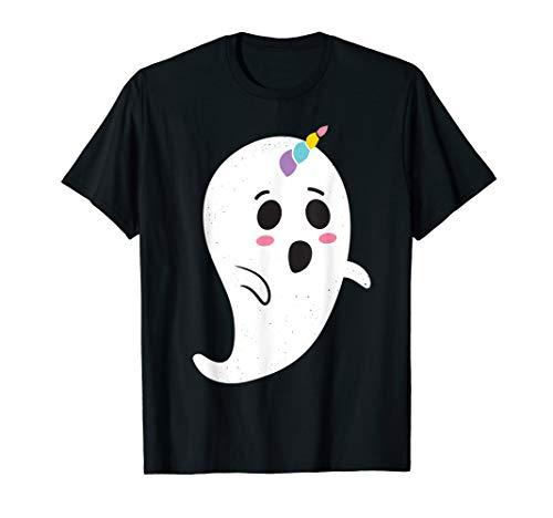 Kostüm Ghost Mädchen - Einhorn Halloween Kostüm Mädchen Frauen Ghost Boonicorn T-Shirt