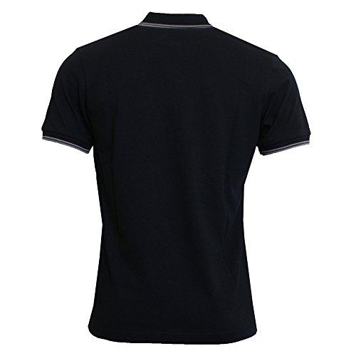 Pretty Green Herren Poloshirt Mens Tipped Pique Polo Shirt, Weiß, Einheitsgröße Schwarz