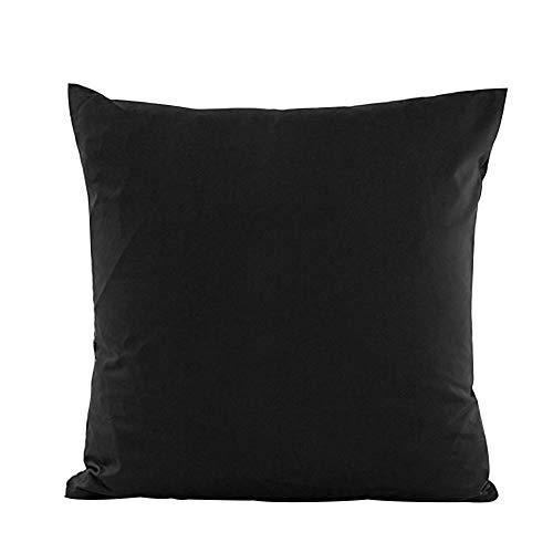 Alimagic Almohada de Color Liso, Funda de Almohada para sofá o Coche, diseño Cuadrado, Fundas De Cojines Algodón de Decoración...