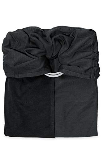 je porte mon bébé Petite Echarpe sans Nœud Anthracite/Noir