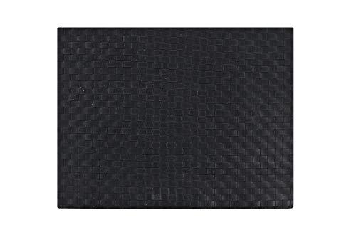 B&P Italia Tischset Americana aus umweltfreundlichem Leder, Größe 43 x 32 cm, Schwarz