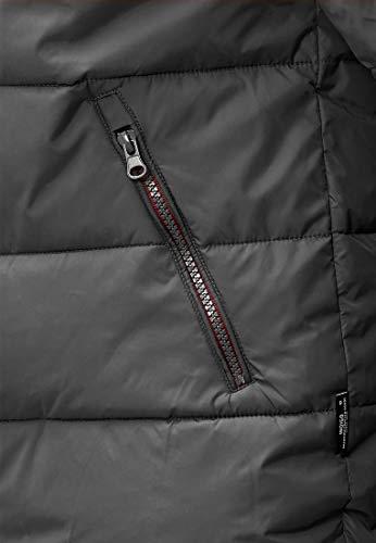 Indicode Herren Philpot Steppjacke Übergangsjacke Jacke mit Kapuze Dk Grey S - 6