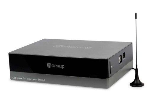 Memup MediaDisk ZX 1TB externe Multimedia Festplatte mit DVB-T Tuner und Aufnahmefunktion