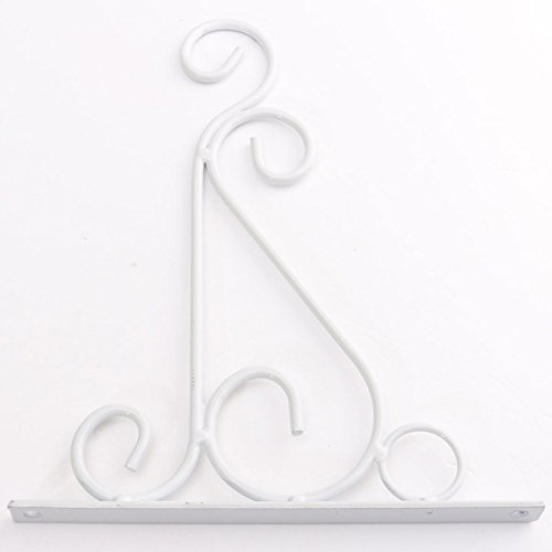 King do way ganci vasi sospesa romantico supporto fioriera pensile in ferro classico bianco 20cmx24cm