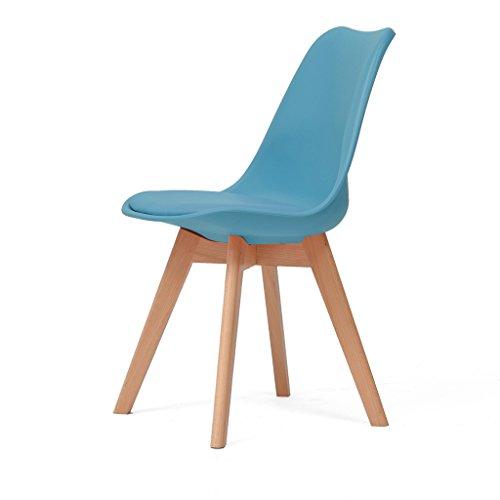 Wooden chair Möbel Massivholz Schreibtischstuhl einfach modern 83cm * 43cm * 43cm praktischen Komfort (Farbe : M) -