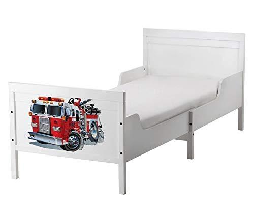 Set Möbelaufkleber für Ikea SUNDVIK Bett Schlafzimmer Kinderzimmer Feuerwehr Feuerwehrauto Kat2 Boy SU2 Aufkleber Möbelfolie sticker (Ohne Möbel) Folie 25U2763 - Feuerwehr-schlafzimmer-möbel