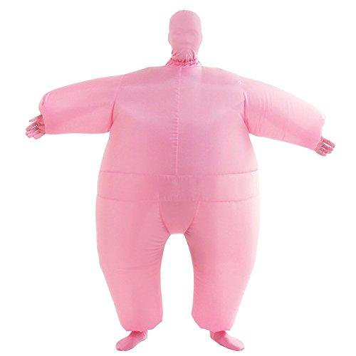 THEE Aufblasbares Kostüm Japan Sumo für Halloween Karneval Fastnacht Fasching Erwachsene Fett Anzug,Rosa
