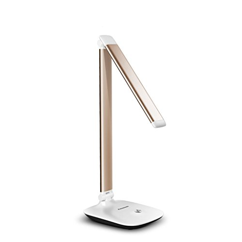 ZGP &Schreibtischlampe Tischleuchte, LED-Augenschutz Dimmbare Lampe, Mit Touch-Sensor-Bedienfeld, 3 Dimmer (Gold/Rosa / Silber) (Farbe : Gold) -