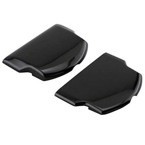 Ambertown® 2x Akku Rückseite Tür Cover Hülle für PSP 2000200130003001Playstation Portable Ersatzteile Ersatz Schwarz (Psp-akku Tür)