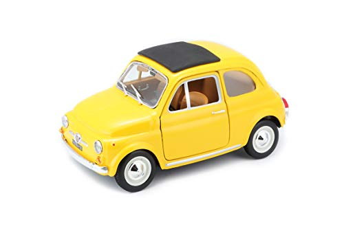 FIAT 500 F 1965 Modellino BBurago 22098 Scala 1:24, Colori Assortiti