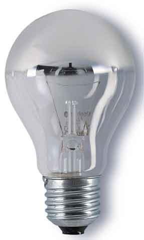 Osram Glühlampe, Spezial Kopfspiegellampe in gold, E27-Sockel, 60 Watt -