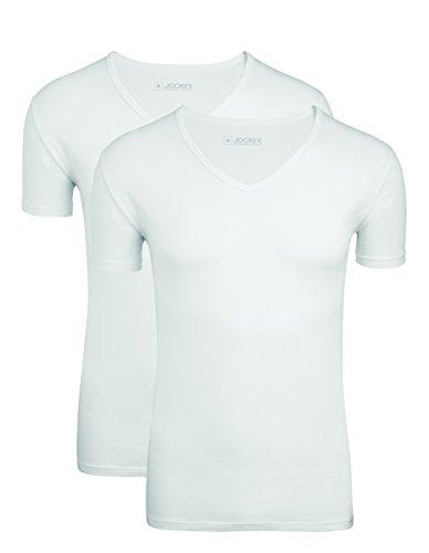Jockey® V-Shirt 2PACK, Weiß, Größe 2XL