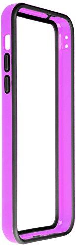 Horny Protectors iP5c-4012c TPU Silikon Schutzhülle für Apple iPhone 5c (nicht 5S) transparent/gelb Lila Schwarz