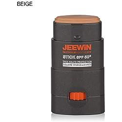 JEEWIN Stick Protecteur Solaire Visage et Lèvres SPF50+ Beige 12 g BEIGE