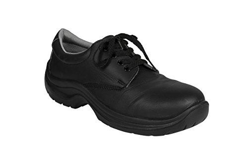 AWC Eco Coffre-fort Chaussures de sécurité–Chaussures de travail avec capuchon en acier 23352 Noir - Noir