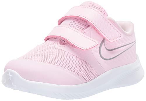 Nike Unisex Baby Star Runner 2 (TDV) Sneaker, Pink Foam/Metallic Silver-Violet 601, 23.5 EU