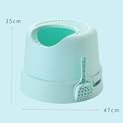 Green Deodorant (Top-In Katzentoilette Anti-Splashing Katzentopf Pull Katzentoilette Deodorant @Green)