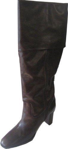 Bottes de Ashley Brooke Cuir nappa en marron brun foncé