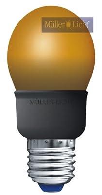 Energiesparlampe 5W orange E27 Tropfenlampe = Licht wie 25W Glühbirne von Mller-licht bei Lampenhans.de
