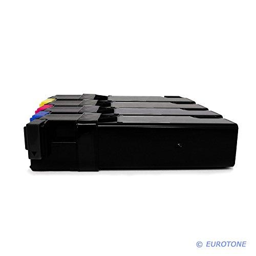 Preisvergleich Produktbild 4x Eurotone Toner für Epson Aculaser C 2900 DN N ersetzt alle Farben S050627 - S050630