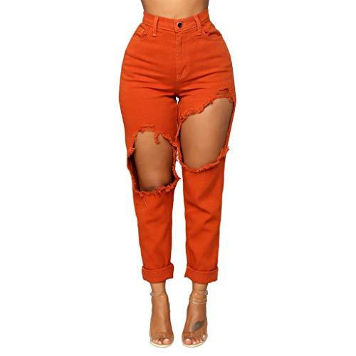 Ashop donne sexy elastico strappato buco lavato a tempo pieno jean addosso i pantaloni donne primavera estate autunno jeans grandi del ginocchio femminili pantaloni slim strappati skinny stirata