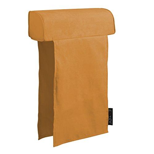 Extroitaly felipe arancione poggiatesta per divano rivestito in tessuto microfibra con doppia fascia * mis.cm.60 x diametro cm.16 fascia cm.70 largh.45 *