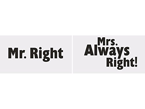 Preisvergleich Produktbild SiDeSo® Foto Gadgets Mr. Right Mrs Always Right