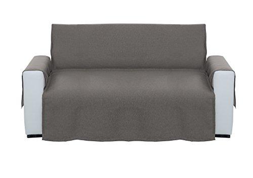 Cotton & color arredo salvadivano, cotone, grigio, 225x134x0.5 cm
