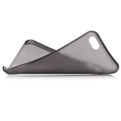 iCues Apple iPhone 5C |  Zero Matt Case Weiss | [Display Schutzfolie Inklusive] Extra Leicht sehr Dünn Transparent Klarsichthülle Durchsichtig Klare Klarsicht Schutzhülle Hülle Cover Schutz Schwarz