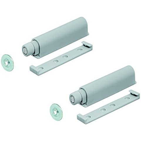GedoTec® 2 x Compuerta de presión Retén de la puerta Abrelatas de la puerta con magnético Dispositivo de bloqueo Incl. magnético Placa de contador