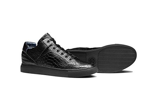 OPP Chaussures de Ville en Cuir à Lacets Hommes Nouvelle Collection Noir