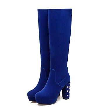 RTRY Scarpe Donna Materiali Personalizzati Comfort Winter Snow Boots Fashion Stivali Stivali Bootie Chunky Tallone Punta Tonda Punta Chiusa Ginocchio Stivali Alti US5.5 / EU36 / UK3.5 / CN35