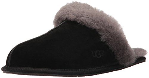 UGG Damenschuhe Hausschuhe SCUFFETTE II 5661 black grey, Größe:41 EU (Wildleder Damen-ski-stiefel)