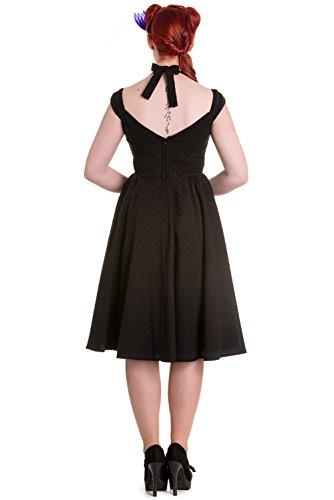 Hell Bunny Eveline Bardot Retro Robe Noir