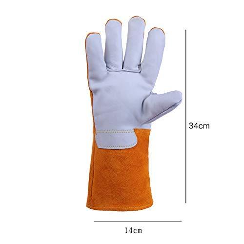 Preisvergleich Produktbild MDD Arbeitsschutzhandschuhe Schweißhandschuhe Langes,  hitzebeständiges Lederfutter Sicher und bequem