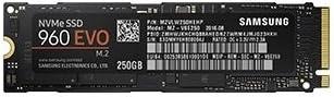 Samsung 960 EVO MZ-V6E250BW Interne Solid State Drive (250GB)