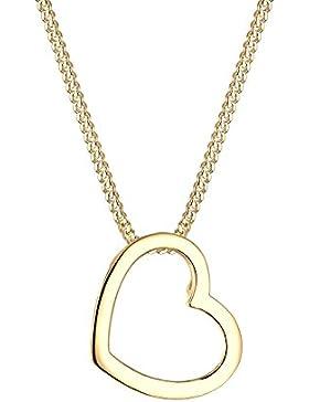 Elli Damen-Kette mit Anhänger Herz Silber vergoldet    45 cm - 0110880615_45