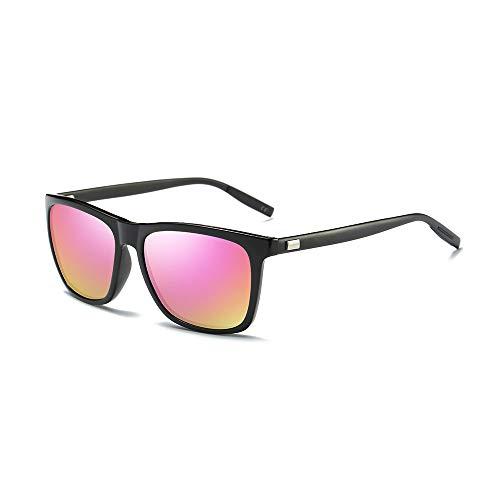 AMZTM Occhiali da Sole di Moda per Uomo Donna Lente TAC Polarizzata Occhiali Ultraleggero Al Mg Classico Cornice Quadrata Protezione UV400 HD Visione