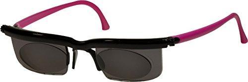 Adlens Sonnenbrille mit Sehstärke für Nah- Mittel- und Fernsichtbereich Lesebrille/schwarz pink/-4...