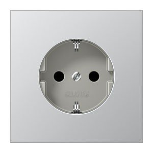 Preisvergleich Produktbild Jung SchukoSteckdose 16A250V mit Berührungsschutz Serie LS Aluminium, 1 Stück, AL 1520 KI