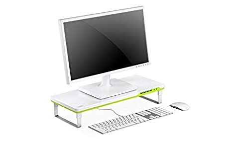 DEEPCOOL Laptop Stand Desktop Monitor Riser with Audio Jacks 4 USB Ports, M-desk (Porte 5 Shelf)